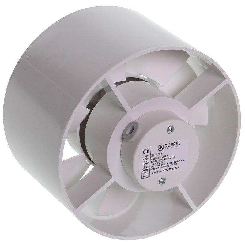 Ventilatore assiale con valvola di aspirazione 100m³ ...