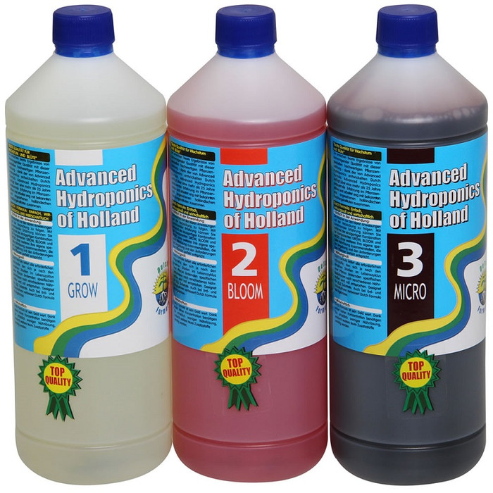 Kit Advanced Hydroponics Grow, Bloom, Micro 1 L