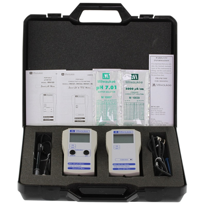 Valigetta Milwaukee con kit per misurare pH + EC MW 710
